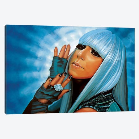 Lady Gaga Canvas Print #PME103} by Paul Meijering Canvas Wall Art