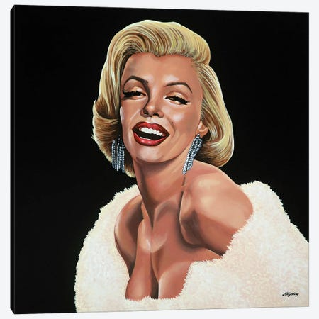 Marilyn Monroe I Canvas Print #PME110} by Paul Meijering Art Print