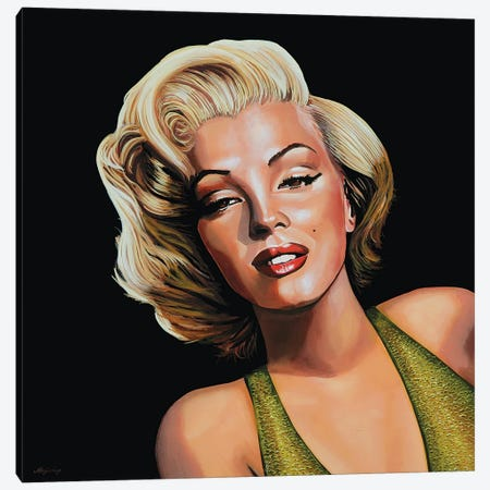 Marilyn Monroe II Canvas Print #PME111} by Paul Meijering Canvas Art Print