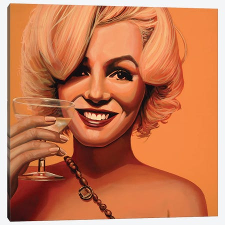 Marilyn Monroe V Canvas Print #PME114} by Paul Meijering Canvas Artwork