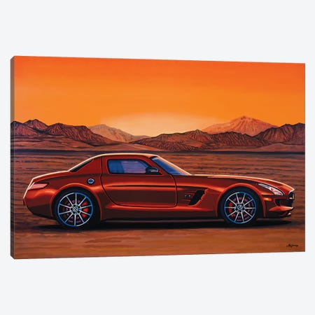 Mercedes Benz Sls Amg Gt Final Edition Canvas Print #PME120} by Paul Meijering Canvas Art