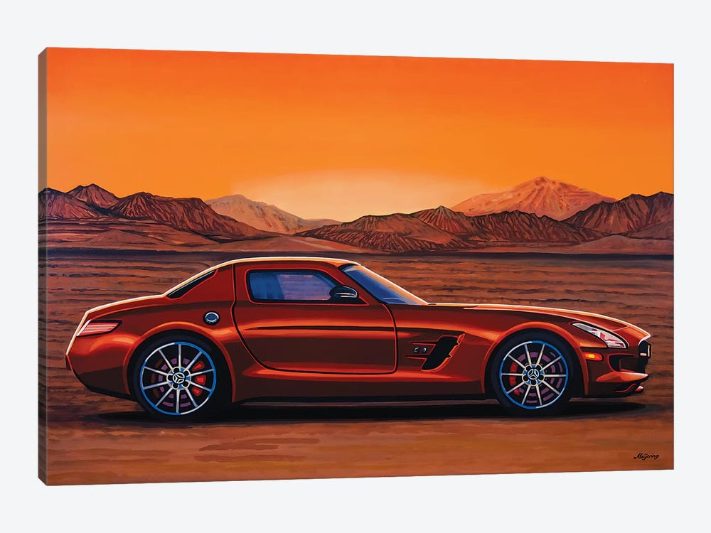 Mercedes Benz Sls Amg Gt Final Edition by Paul Meijering 1-piece Canvas Wall Art