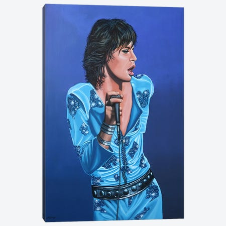 Mick Jagger I 3-Piece Canvas #PME122} by Paul Meijering Canvas Art