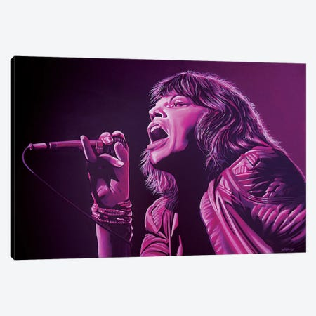 Mick Jagger II Canvas Print #PME123} by Paul Meijering Canvas Art