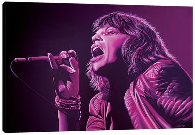 Mick Jagger II Canvas Art Print