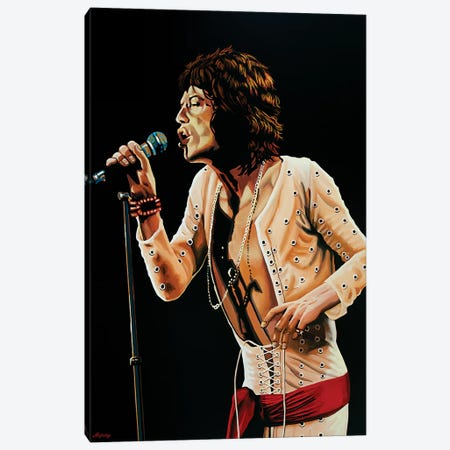 Mick Jagger V 3-Piece Canvas #PME124} by Paul Meijering Canvas Print