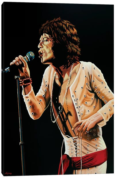 Mick Jagger V Canvas Art Print