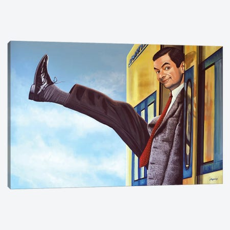 Mister Bean Canvas Print #PME125} by Paul Meijering Art Print