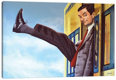 Mister Bean Canvas Art Print