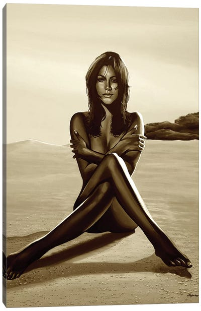 Nude Woman I Sepia Canvas Art Print