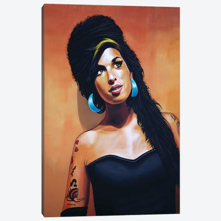 Amy Winehouse I Canvas Print #PME12} by Paul Meijering Canvas Artwork