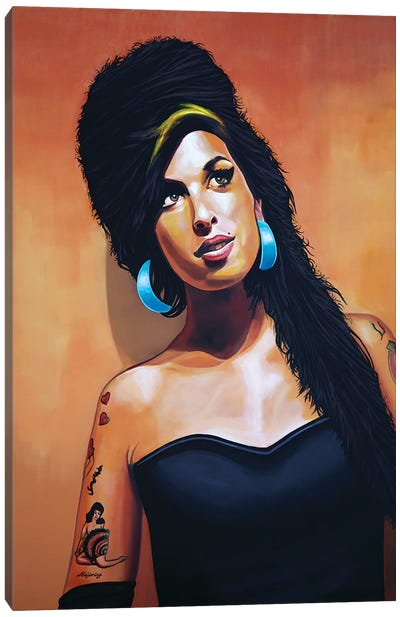 Amy Winehouse I Canvas Art Print