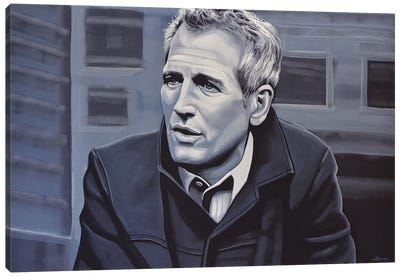 Paul Newman Canvas Art Print