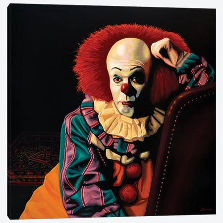 Pennywise It Canvas Print #PME133} by Paul Meijering Art Print
