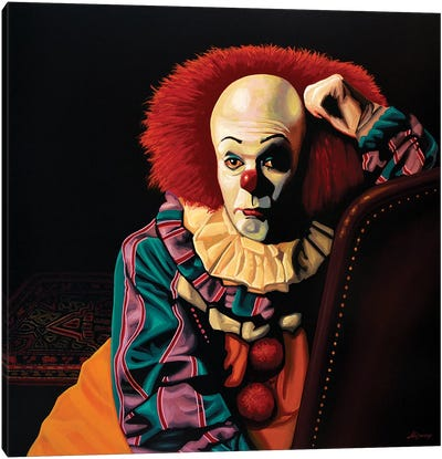 Pennywise It Canvas Art Print