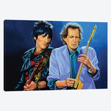 Ron Wood And Keith Richards Canvas Print #PME138} by Paul Meijering Canvas Print