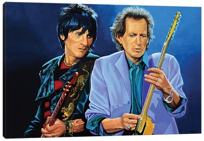 Ron Wood And Keith Richards Canvas Art Print
