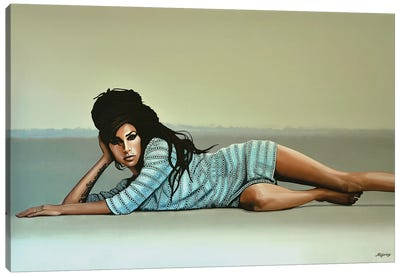 Amy Winehouse II Canvas Art Print