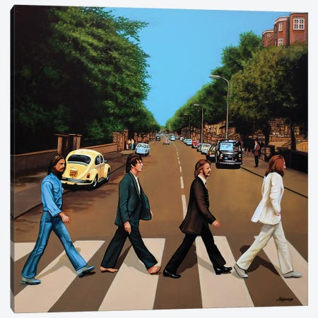 The Beatles Abbey Road Canvas Print #PME145} by Paul Meijering Canvas Print