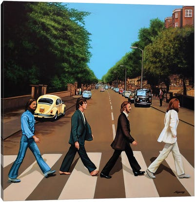 The Beatles Abbey Road Canvas Art Print