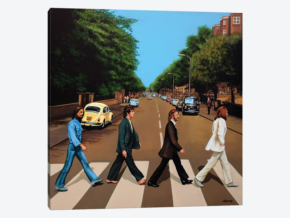 The Beatles Abbey Road by Paul Meijering 1-piece Canvas Art Print