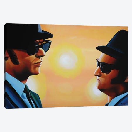 The Blues Brothers Canvas Print #PME146} by Paul Meijering Canvas Print