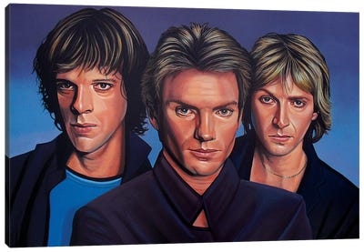 The Police Rockband Canvas Art Print