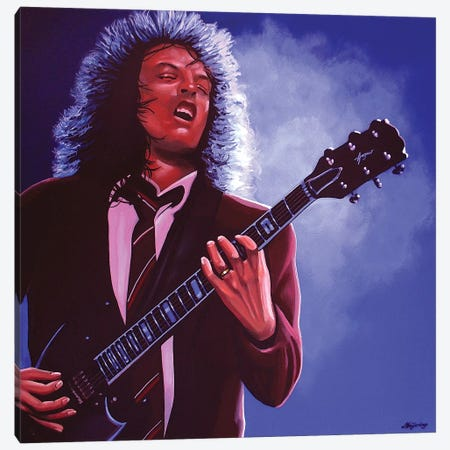Angus Young Canvas Print #PME14} by Paul Meijering Art Print