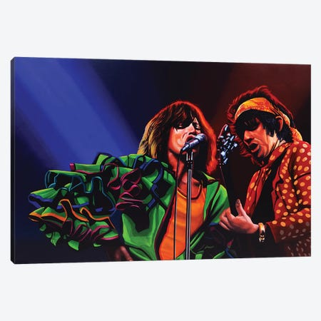 The Rolling Stones 50 Years Canvas Print #PME150} by Paul Meijering Canvas Art Print