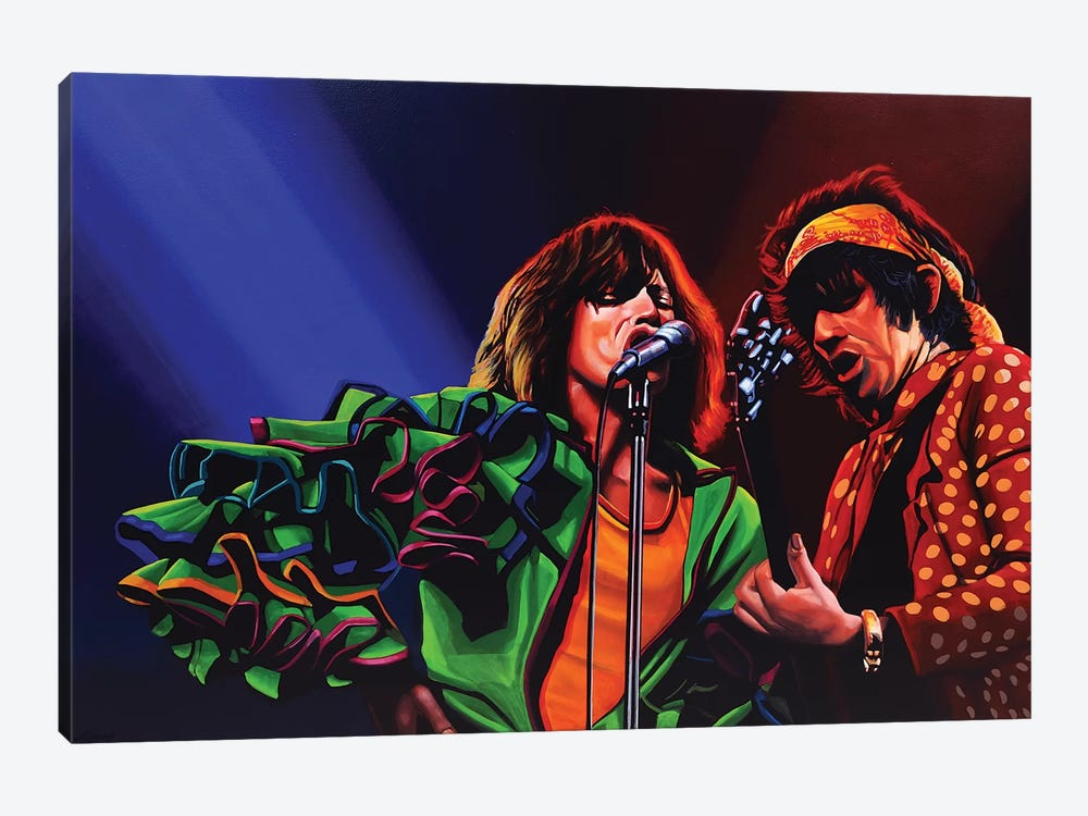 The Rolling Stones 50 Years by Paul Meijering 1-piece Canvas Print