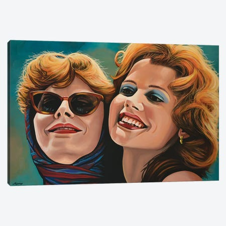 Thelma And Louise 3-Piece Canvas #PME153} by Paul Meijering Canvas Print