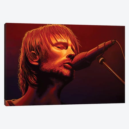Thom Yorke Radiohead Canvas Print #PME154} by Paul Meijering Canvas Wall Art