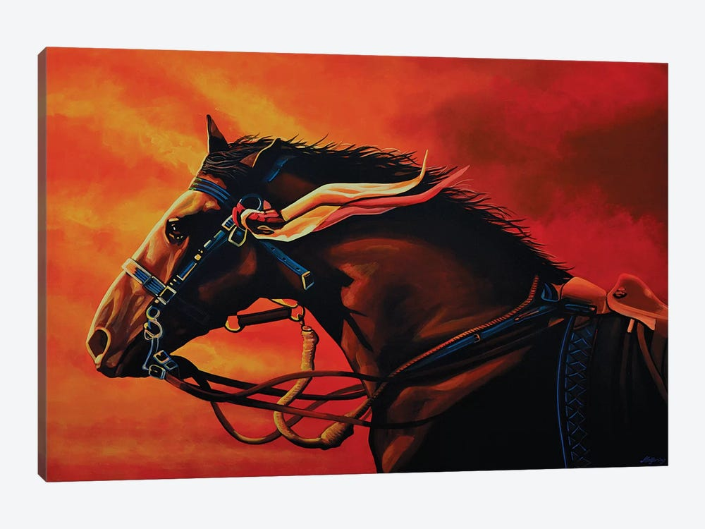 Warhorse Joey by Paul Meijering 1-piece Canvas Art Print