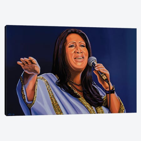 Aretha Franklin 3-Piece Canvas #PME15} by Paul Meijering Canvas Art Print