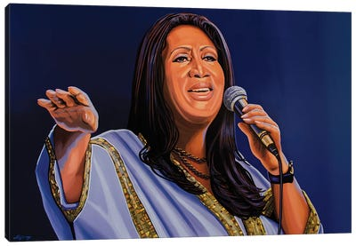Aretha Franklin Canvas Art Print