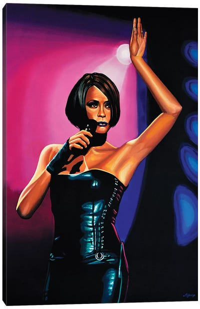 Whitney Houston II Canvas Art Print