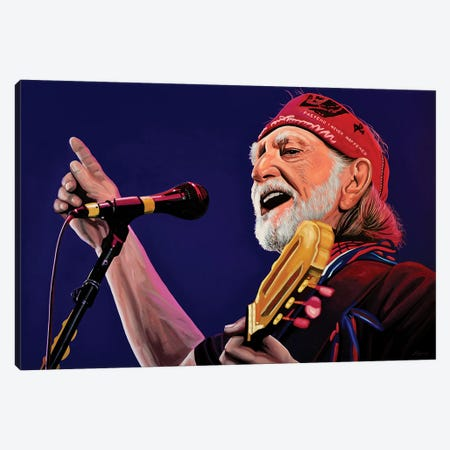 Willie Nelson Canvas Print #PME161} by Paul Meijering Canvas Artwork