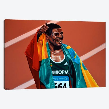Haile Gebrselassie Canvas Print #PME162} by Paul Meijering Canvas Artwork