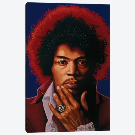 Jimi Hendrix Canvas Print #PME163} by Paul Meijering Canvas Artwork