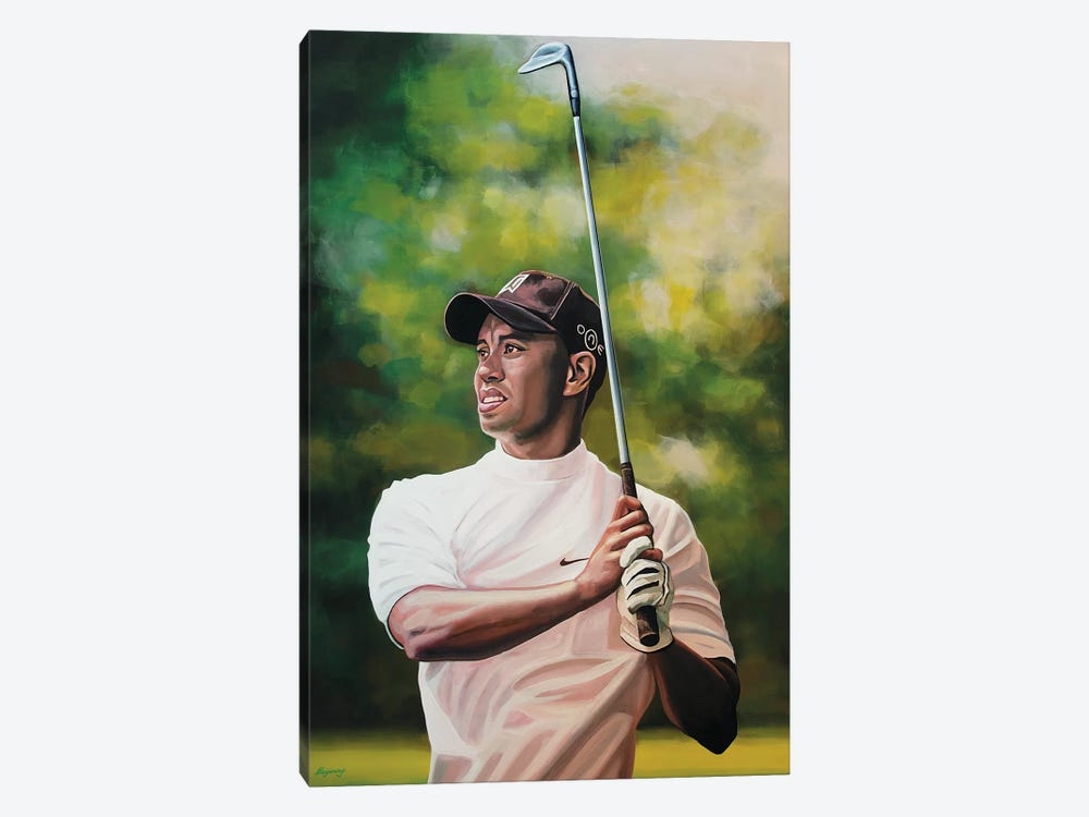 Tiger Woods by Paul Meijering 1-piece Canvas Print