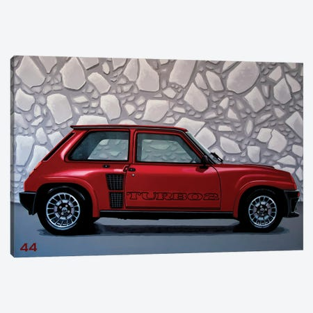 Renault 5 Turbo 1980 Canvas Print #PME169} by Paul Meijering Canvas Artwork