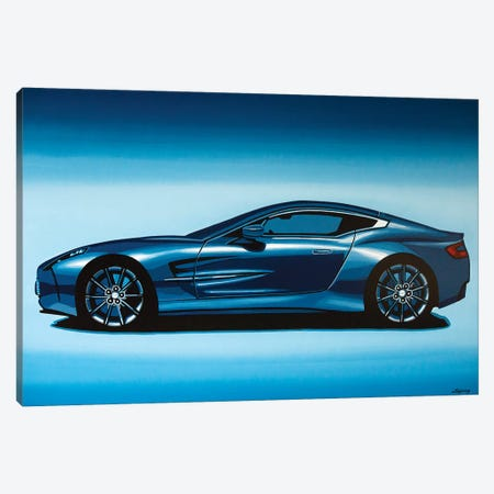 Aston Martin One 77 2009 3-Piece Canvas #PME16} by Paul Meijering Canvas Print