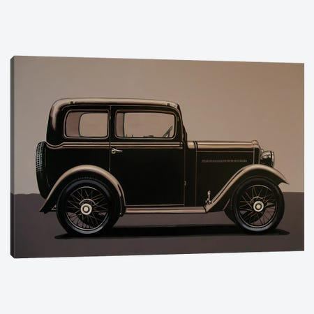 Morris Minor Saloon 1928 3-Piece Canvas #PME173} by Paul Meijering Canvas Print