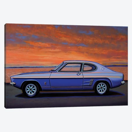 Ford Capri 1969 Canvas Print #PME175} by Paul Meijering Canvas Art
