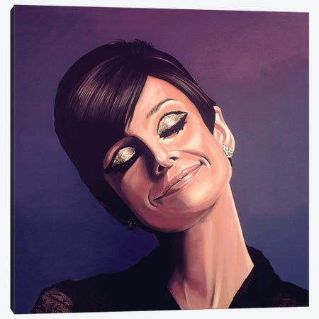 Audrey Hepburn Canvas Print #PME17} by Paul Meijering Art Print
