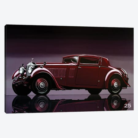 Rolls Royce Phantom 1933 3-Piece Canvas #PME181} by Paul Meijering Canvas Wall Art