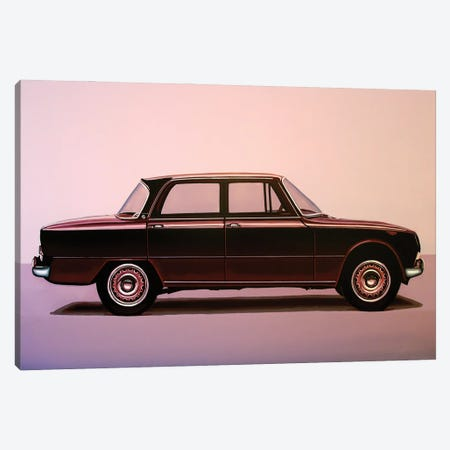 Alfa Romeo Giulia Super 1967 3-Piece Canvas #PME184} by Paul Meijering Canvas Print