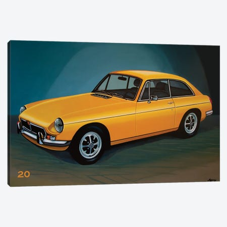 MGB GT 1966 Canvas Print #PME186} by Paul Meijering Canvas Print