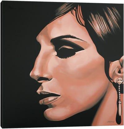 Barbra Streisand I Canvas Art Print