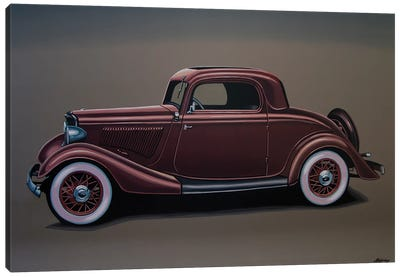 Ford 3 Window Coupe 1933 Canvas Art Print